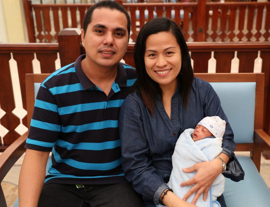 Alexis Ayaton Salido and husband, Renante Magada Mondejar, with baby Carl  Joseph. (Contributed photo)