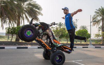 Dubai Police Stunt Team to set Guinness world record for longest ATV wheelie
