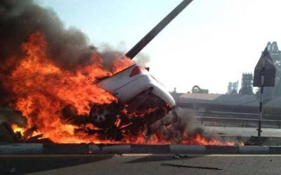 Teenager burns to death in RAK road crash