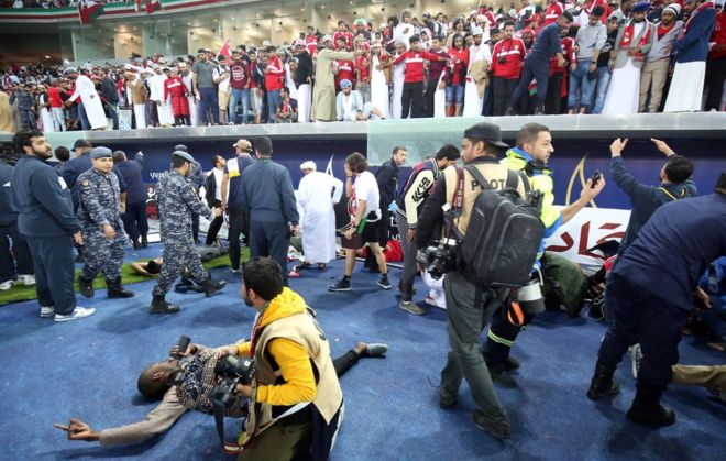 40 football fans injured after stadium barrier collapsed in Kuwait City