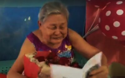 OFW in UAE surprises his mother on her 86th birthday