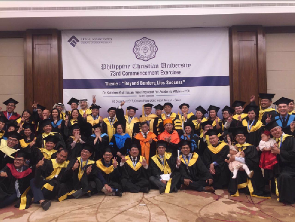 Arab nationals among graduates of Filipino educator's post-grad programs