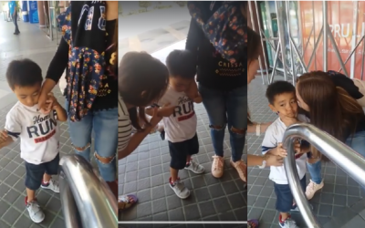 WATCH: Emotional parting of kid, OFW mother