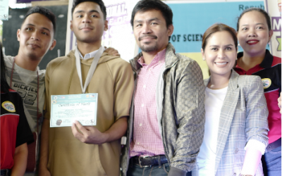 Manny, Jinkee Pacquiao delighted after son bags silver in Math, Science battle