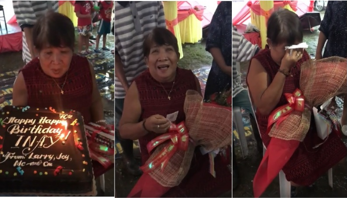 WATCH: Mother speechless after OFW son sends birthday gift for her