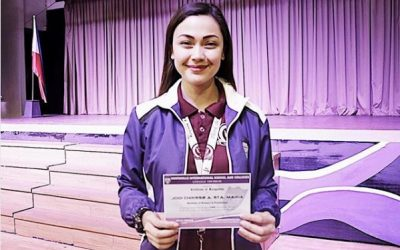 Jodi Sta. Maria tops her class, accepts Dean's List certificate