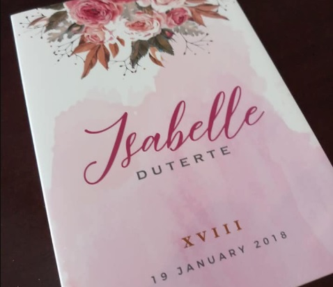 Isabelle dutertes debut invitation spurs reactions from netizens isabelle dutertes debut invitation spurs reactions from netizens stopboris Choice Image