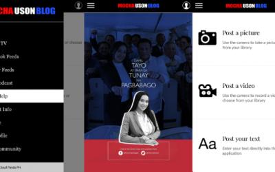 Mocha Uson Blog's new mobile app features OFW Help