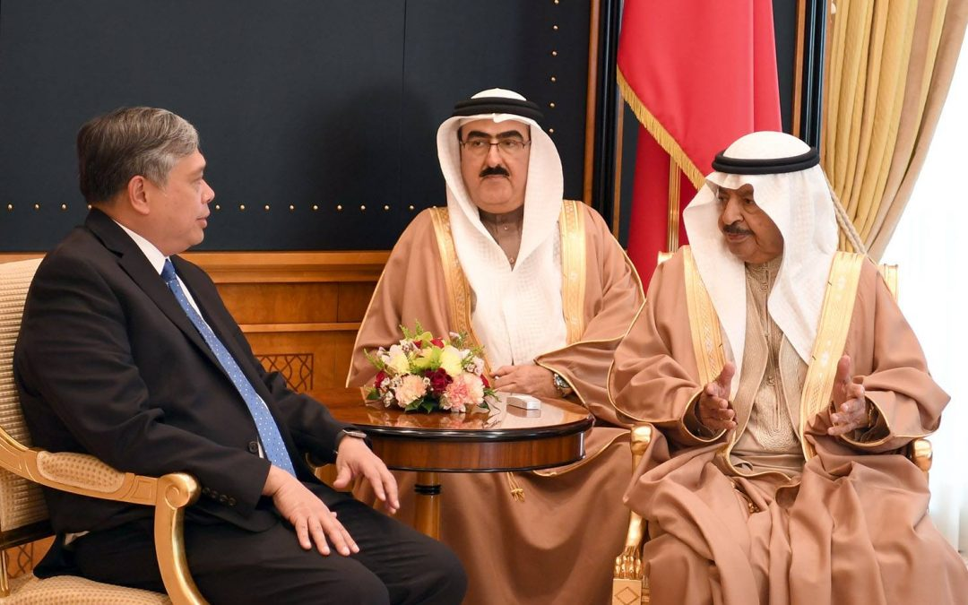 Phil ambassador to Bahrain says he is thankful to the prime minister