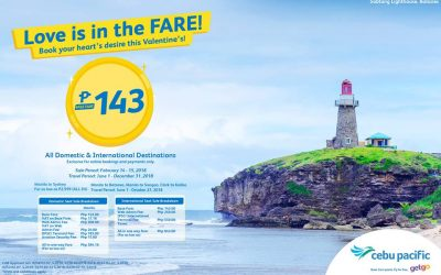CebuPac offers as low as Dh10 special V-day seat sale for all domestic, int'l flights