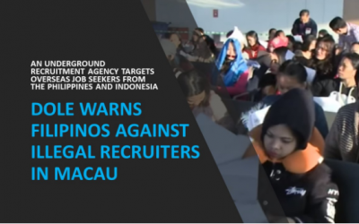 DOLE warns Filipinos against illegal recruiters in Macau