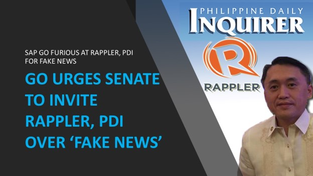 SAP Go slams Rappler, Inquirer for 'irresponsible reporting'