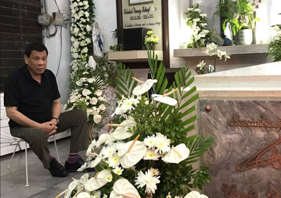 IN PHOTOS: President Duterte commemorates his mother's 6th death anniversary