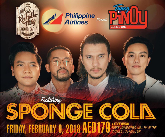 LOOK: Tunog Pinoy Series One concert features Sponge Cola in Dubai