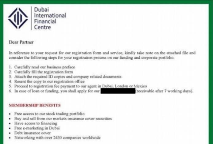 Authorities warn public against 'advanced fee' scam in Dubai