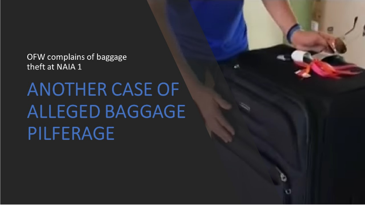OFW complains of baggage theft at NAIA 1