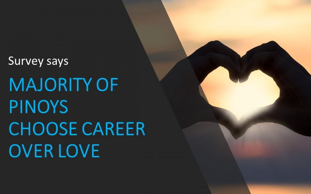 Career wins over love life for majority of Filipinos