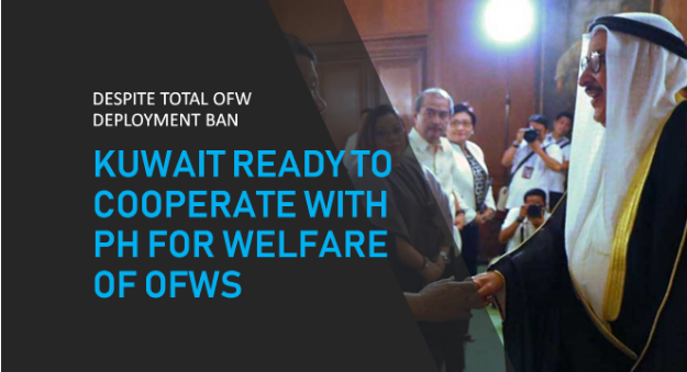 Kuwait to work with PH for OFWs' welfare amid total deployment ban