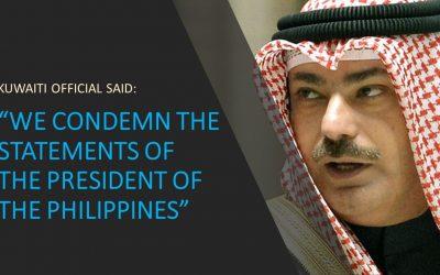 Kuwaiti official denounces Duterte's comments about OFW abuse