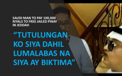 Saudi man to pay 100,000 Saudi riyals to free jailed Pinay in Jeddah
