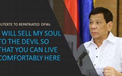 """Duterte to OFWs: """"I'll sell my soul to the devil so you can live comfortably in PH"""""""