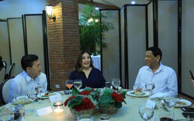 Sharon Cuneta shares dinner with President Duterte