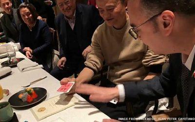 Cayetano, Jack Ma show off magic tricks