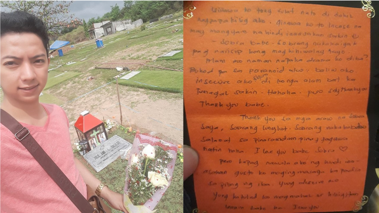 Pinoy's love letter proves true love transcends death