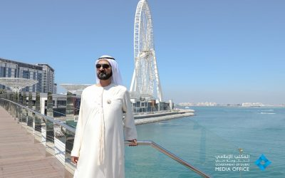 Sheikh Mohammed visits Bluewaters Island