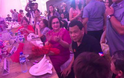 LOOK: Duterte attends birthday celebration of ex-wife