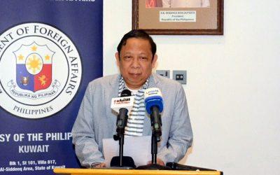 Expelled PH ambassador leaves Kuwait