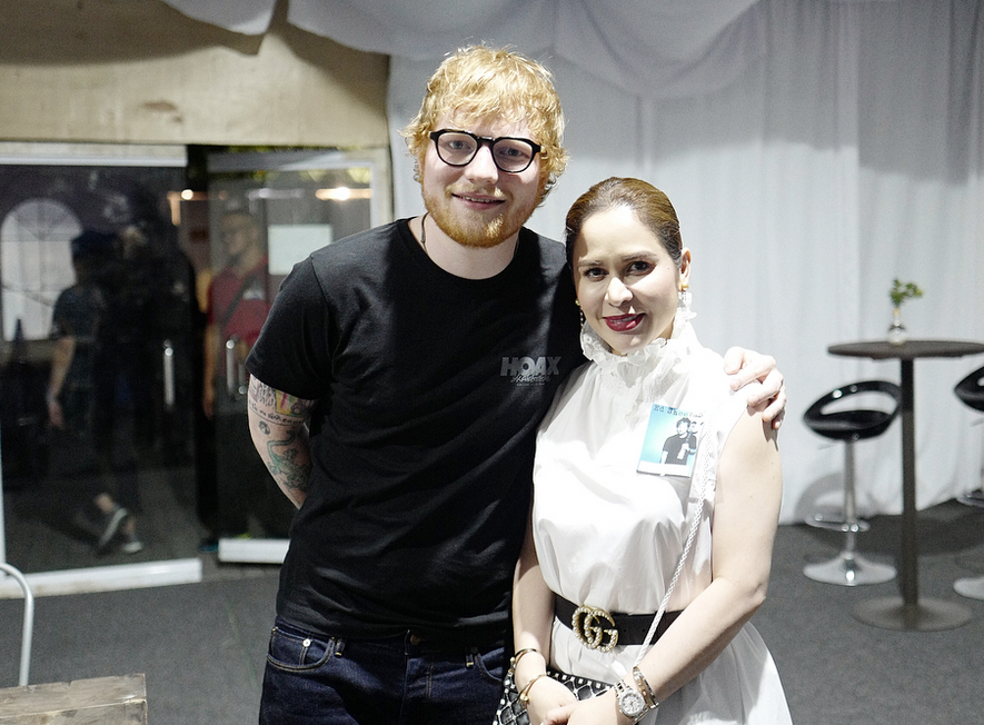 IN PHOTOS: Jinkee Pacquiao gives special gift to Ed Sheeran