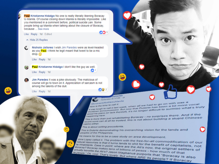 An overseas Filipino worker based in Dubai showed no signs of backing down  after he lashed out at singer Jim Paredes who responded to his Facebook  post, ...