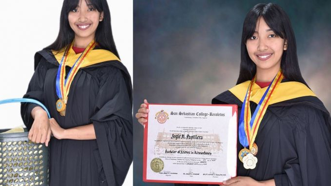 LOOK: Merienda vendor from Laguna finishes college with flying colors