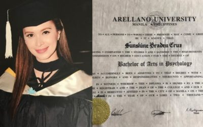 Sunshine Cruz finally receives her college diploma
