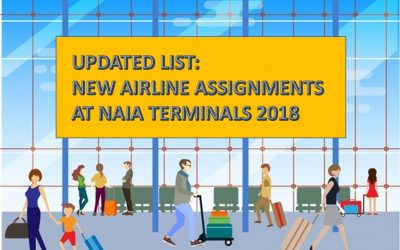UPDATED LIST: New NAIA terminal assignments for airlines