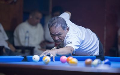 "Efren ""The Magician"" Bata Reyes plays an exhibition match in Abu Dhabi"