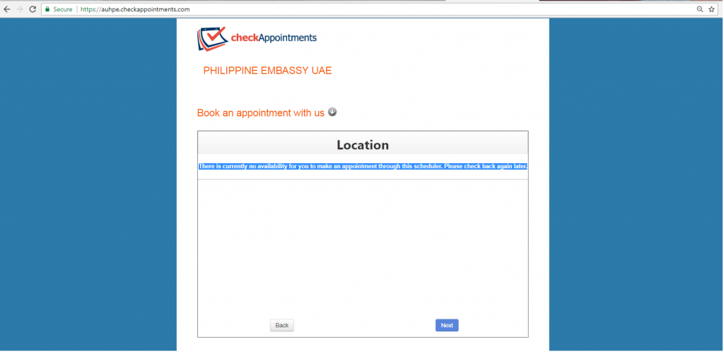Philippine Embassy in Abu Dhabi clarifies availability on