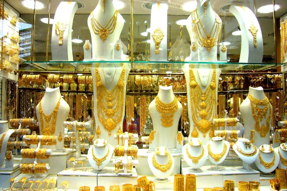 How much do those big necklaces in Dubai Gold Souq cost?