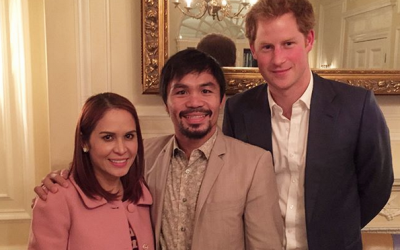 Manny Pacquiao shares short message for Prince Harry, Meghan Markle