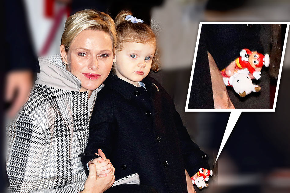 Is Monaco's princess carrying a Jollibee toy?