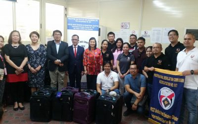PH Embassy receives a donation of 120 pieces of luggage from PICE-UAE