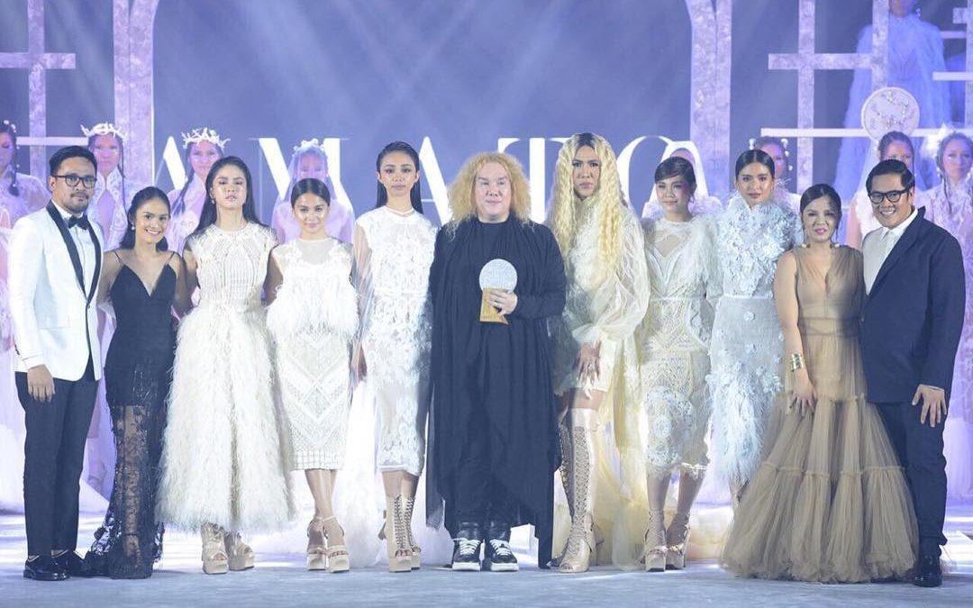 Celebs wear creations of Dubai-based designer during Mega Millennial Ball 2018