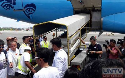 Body of slain OFW in Slovakia arrives at NAIA