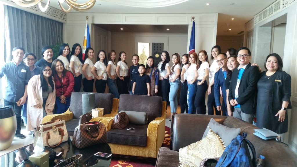 Mutya ng Kasarinlan 2018 candidates pay a visit to the Philippine