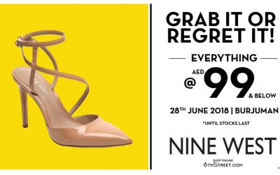 Flash Sale! Get your Nine West for only Dh 99 and below!