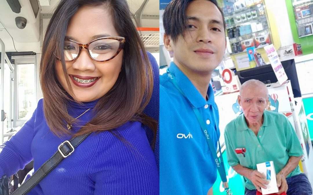 From Dubai with love: Filipina in Dubai gifts an old man in PH a cellphone