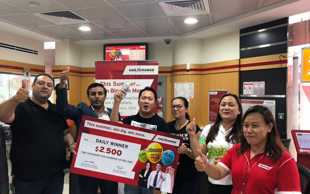 2 lucky Pinoys win a total of Dh27,540 in UAE Exchange's Summer Promotion raffle