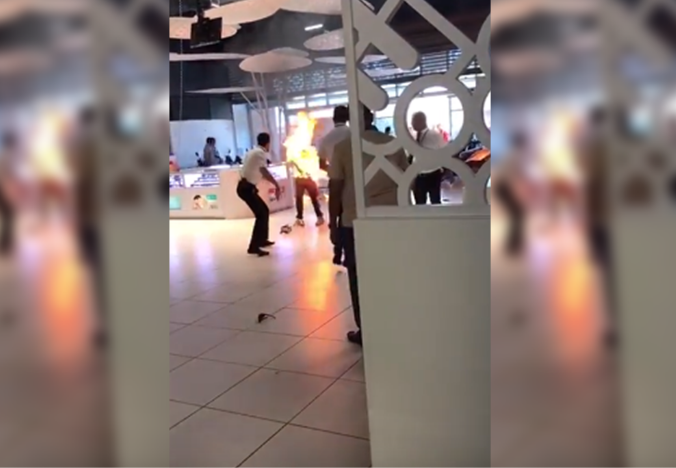 Authorities clarify 'man on fire' incident did not happen in Dubai Mall