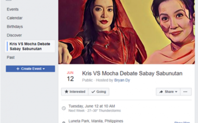 LOOK: 13,000 Filipinos interested to attend 'Kris vs. Mocha Debate Sabay Sabunutan' event